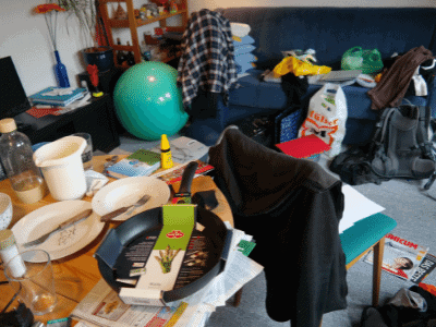 Cluttered Apartment